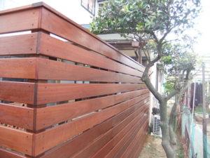 ウッドフェンスの施工例